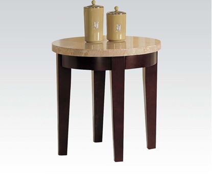 Picture of Britney White Marble Top End Table