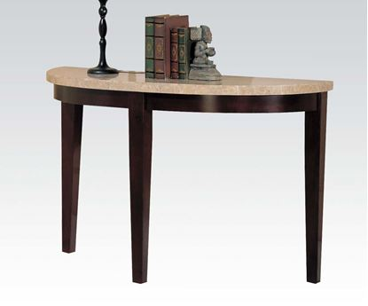 Picture of Britney White Marble Top Sofa Table