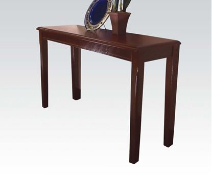 Picture of Contemporary Merlot Finish Sofa Table