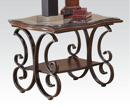 Picture of Hughie Cherry Brown Finish End Table