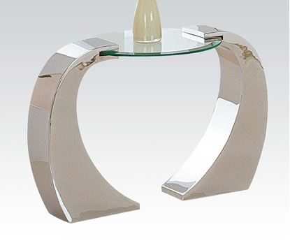 Picture of Metro Chrome End Table with Glass Table Top