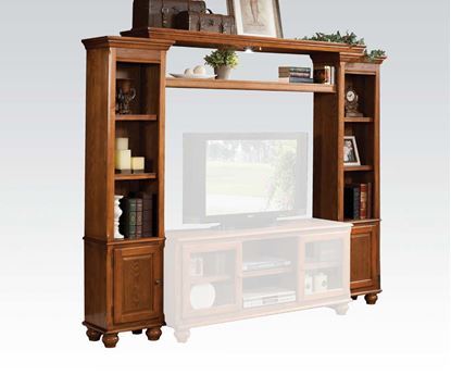 Picture of Slim Profile Entertainment Center in Light Oak Finish
