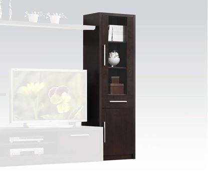 Picture of Malloy Espresso Cabinet with 2 Doors and Drawers