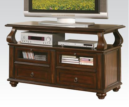 Picture of Modern Walnut Finish 4 Drawer TV Stand