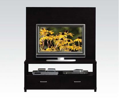 Picture of Contemporary Wood Black Plasma TV Cabinet Set