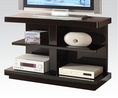 Picture of Modern Black Finish TV Stand