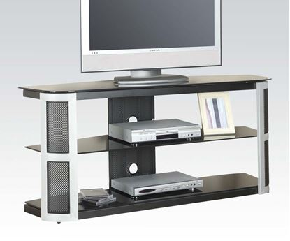 Picture of Bardrick TV Stand with Black Tempered Glass Top