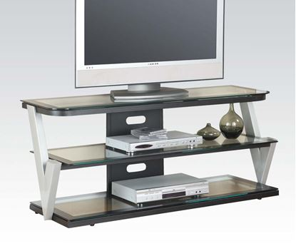 Picture of Bardrick TV Stand with Clear Tempered Glass Top