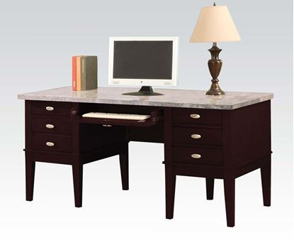 Picture of Britney  Faux Marble Top Home Office Desk