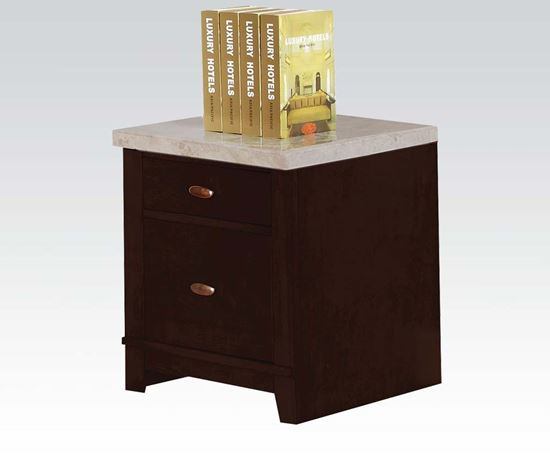 Picture of Britney Faux Marble Top Cabinet with 2 Drawers