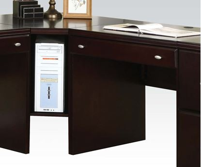 Picture of Cape Espresso Finished Computer Desk w/ Cabinet