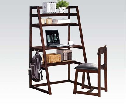 Picture of Celia 2pc Desk and Chair in Espresso