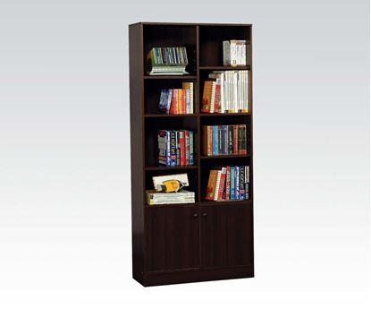Picture of Espresso Finish Book Cabinet w/ 8 Shelves