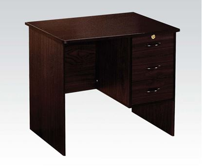 Picture of Contemporary Espresso Finish Computer Desk W/ Drawers