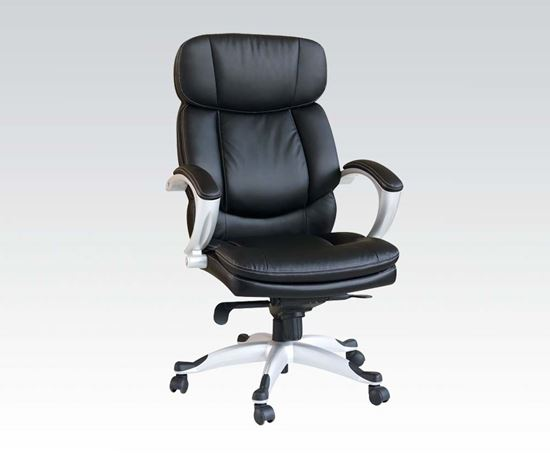 Picture of Black Bycast PU Pneumatic Lift Office Chair
