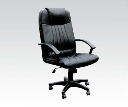 Picture of Arthur Black Split Leather Office Chair