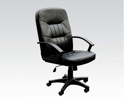 Picture of Jason Black Split Leather Match Pneumatic Lift Office Chair