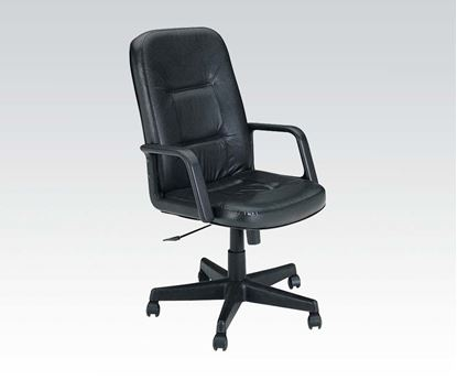 Picture of Andrew Black Genuine Leather Pneumatic Lift Office Chair