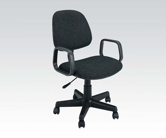 Picture of Black Fabric Pneumatic Lift Office Chair