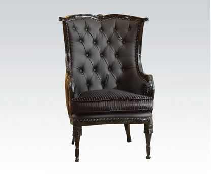 Picture of Black Accent Chair (W/Black Pu)