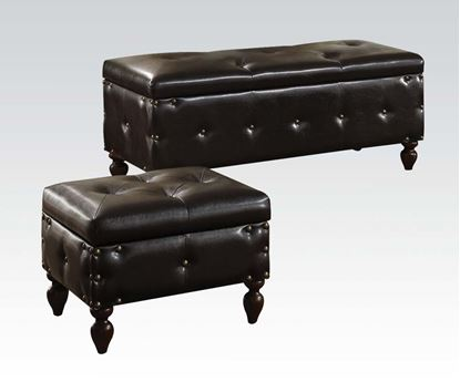 Picture of Ibrahim Brown Storage Bench & Ottomans