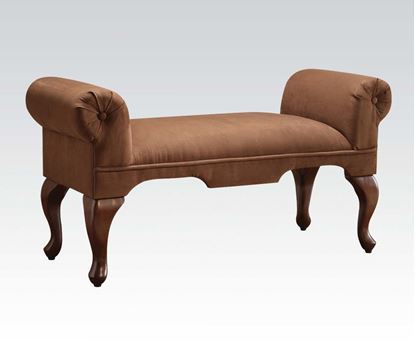 Picture of Aston Chocolate Microfiber Rolled Arm