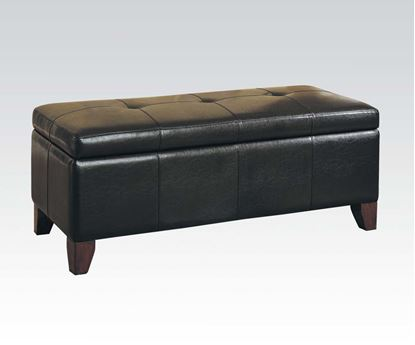 Picture of Teton Bycast PU Storage Bench in Espresso Finish