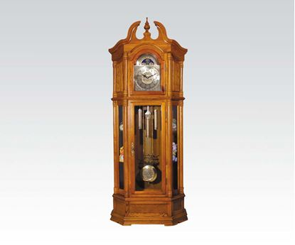 Picture of Grandfather Clock Oak Wood  W/P1