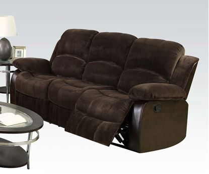 Picture of Masaccio Brown Champion & PU Recliner Sofa