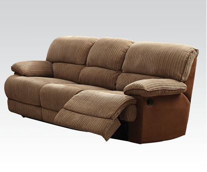 Picture of Malvern Light Brown Fabric Motion Sofa