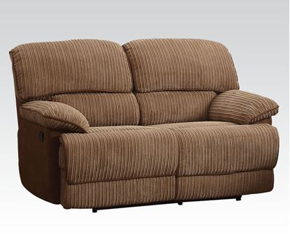 Picture of Malvern Light Brown Fabric Motion Loveseat