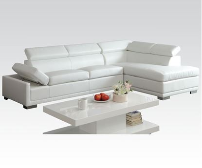 Picture of Cleon Sectional Sofa in White Bonded Leather