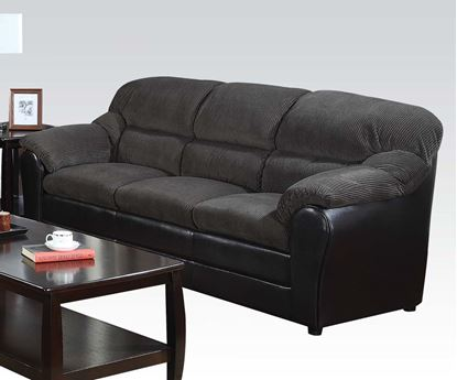 Picture of Connell Dark Grey Corduroy and Espresso Bycast Sofa by