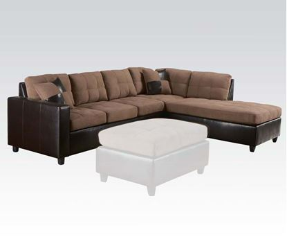 Picture of Milano Saddle/Espresso PU Reversible Sectional Sofa