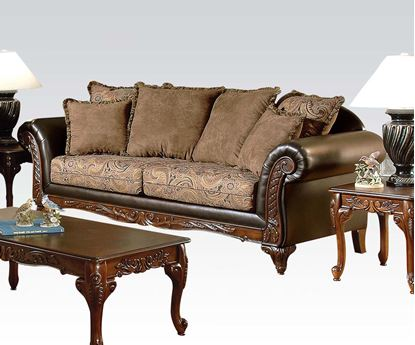 Picture of Transitional Fairfax Chocolate Two Tone Fabric Sofa