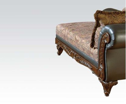 Picture of Transitional Fairfax Chocolate Two Tone Fabric Chaise