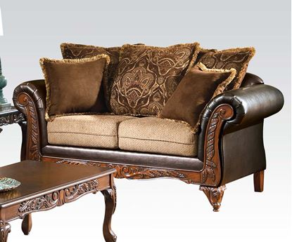 Picture of Fairfax Chocolate/Splurge Loveseat