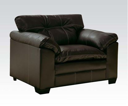 Picture of Contemporary Hayley Onyx  Bonded Leather Upholstered Chair