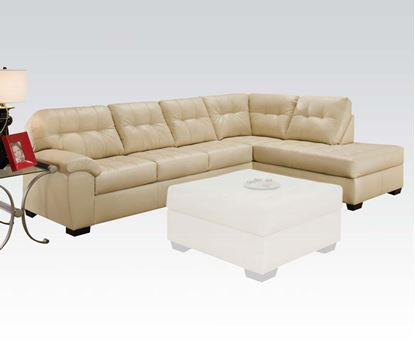 Picture of Natural Bonded Leather Right Facing Sectional