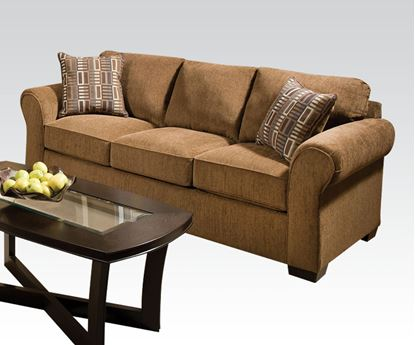 Picture of Modern Lola Walnut Fabric Sofa