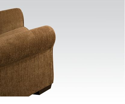 Picture of Modern Lola Walnut Fabric Chair