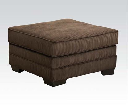 Picture of Tenner Deluxe Beluga Fabric Ottoman