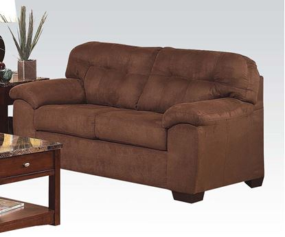 Picture of Aislin Contemporary Espresso Loveseat