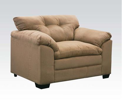 Picture of Lucille Simmons Velocity Latte Microfiber  Chair