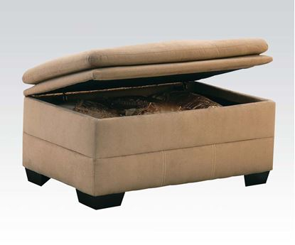 Picture of Lucille Simmons Velocity Latte Microfiber ottoman  50360