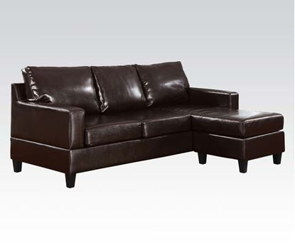 Picture of Espresso PU Reversible Sectional Set
