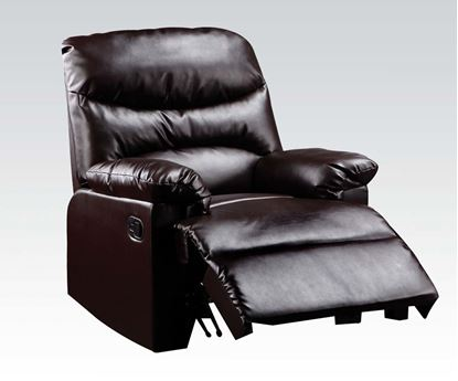 Picture of Arcadia Cracked Brown Bonded Leather Glider Recliner
