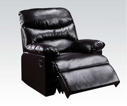 Picture of Arcadia Bonded Leather Glider Recliner in Cracked Brown