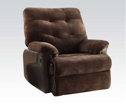 Picture of Layce Recliner in Chocolate Fabric