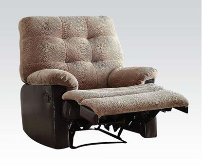 Picture of Layce Morgan Fabric Glider Recliner in Camel Finish